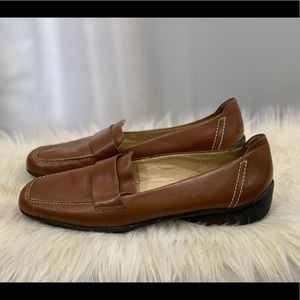 Talbots brown loafers size 10